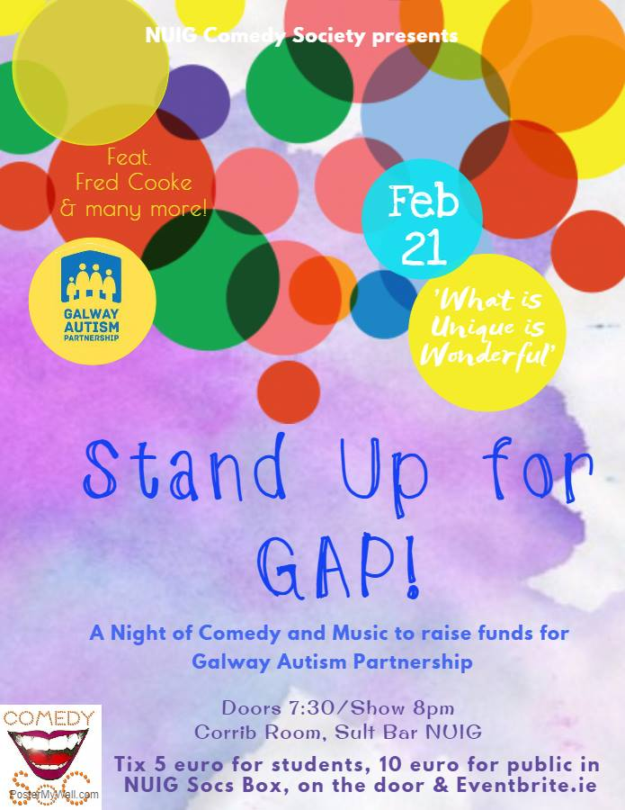 Wednesday – Stand Up Comedy Night for GAP!