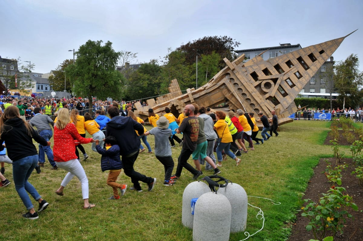 Four tonnes of boxes recycled from Festival activities at weekend