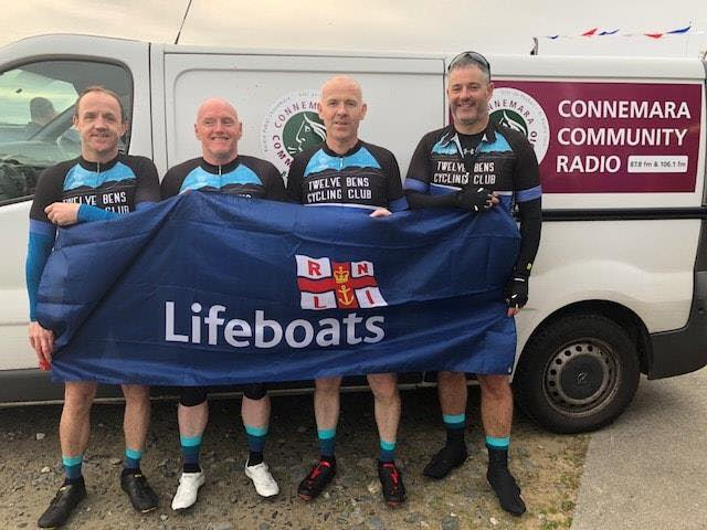 Lifejacket cycle challenge from Dublin to Clifden raises nearly €6,500 for RNLI