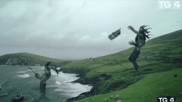 TG4 apologises for CGI clip showing a caravan being kicked off a cliff