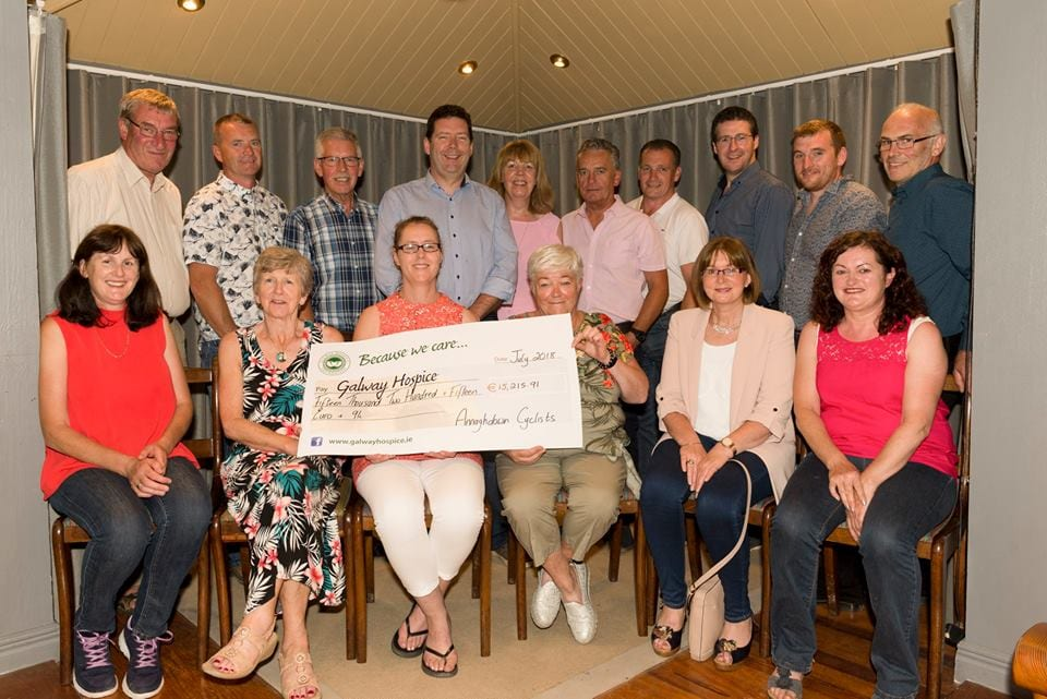 Cyclists raise over €15,000 for Galway Hospice
