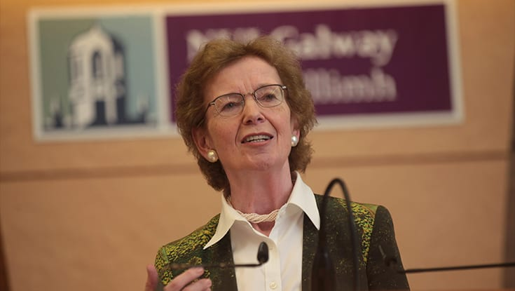 Mary Robinson to speak in Galway about the fight for human rights