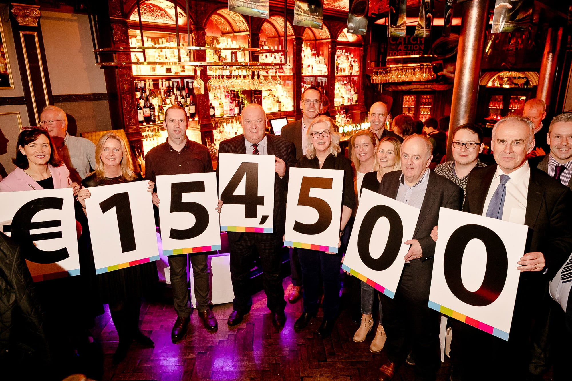 Businesses who raised 154,500 for COPE Galway honoured at event