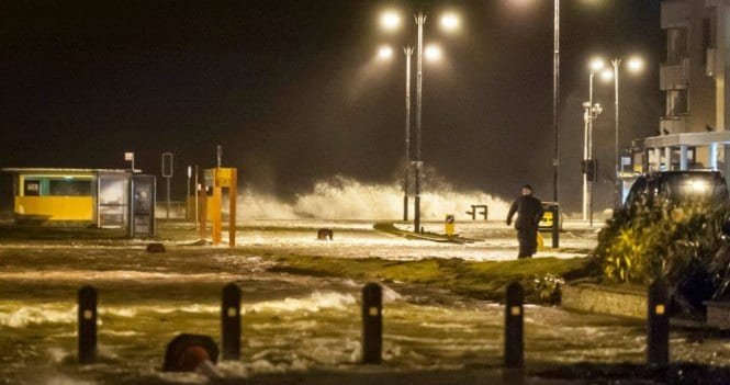 Near-70mph gusts as Storm Erik sweeps over UK
