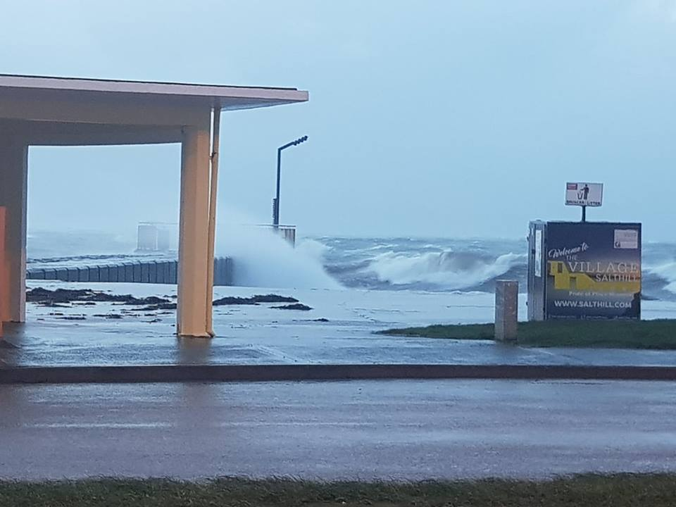 Salthill Prom closed due to flooding from Storm Erik