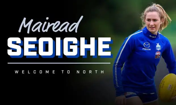 Galway woman joins North Melbourne Aussie football side