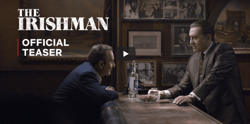 The Irishman trailer: Scorsese, Pacino and De Niro team up for new gangster film