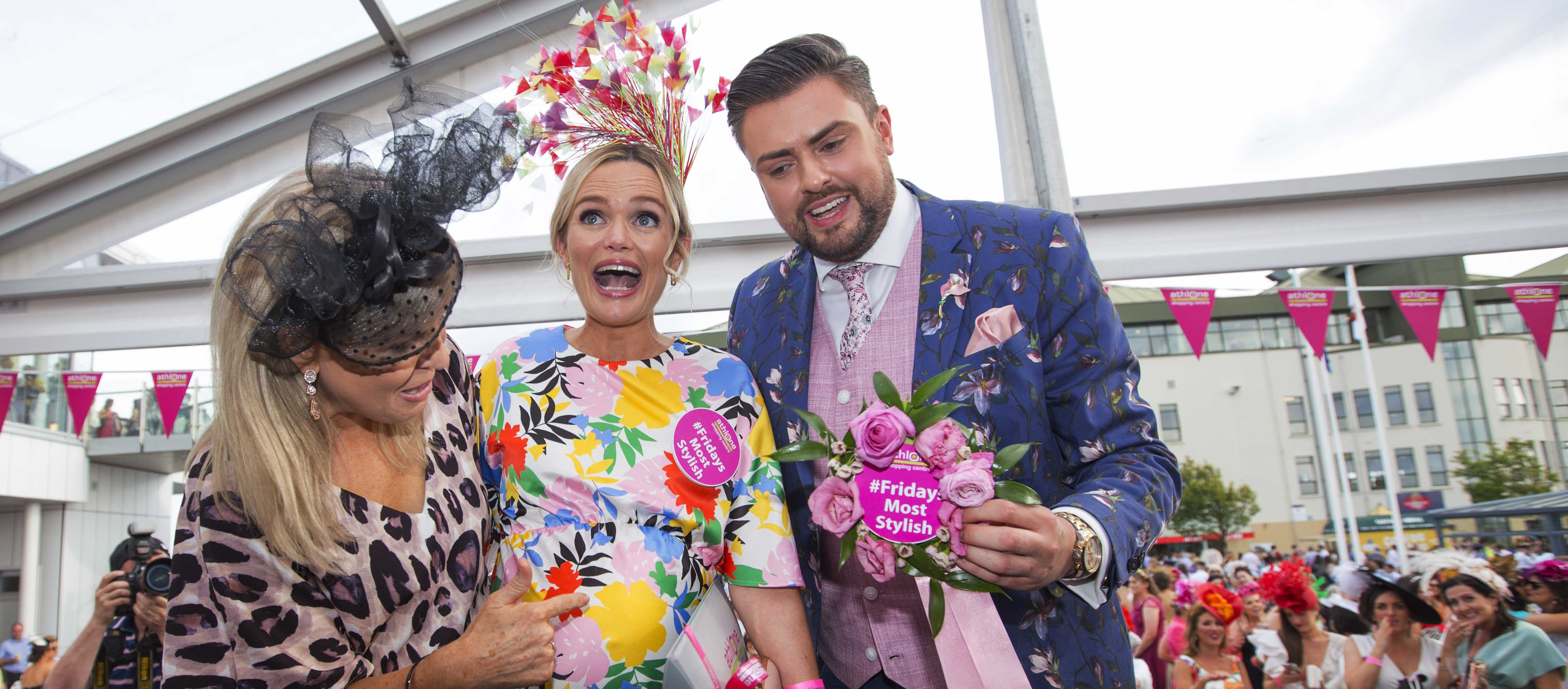 38 weeks pregnant woman wins Friday's Most Stylish at Galway Races