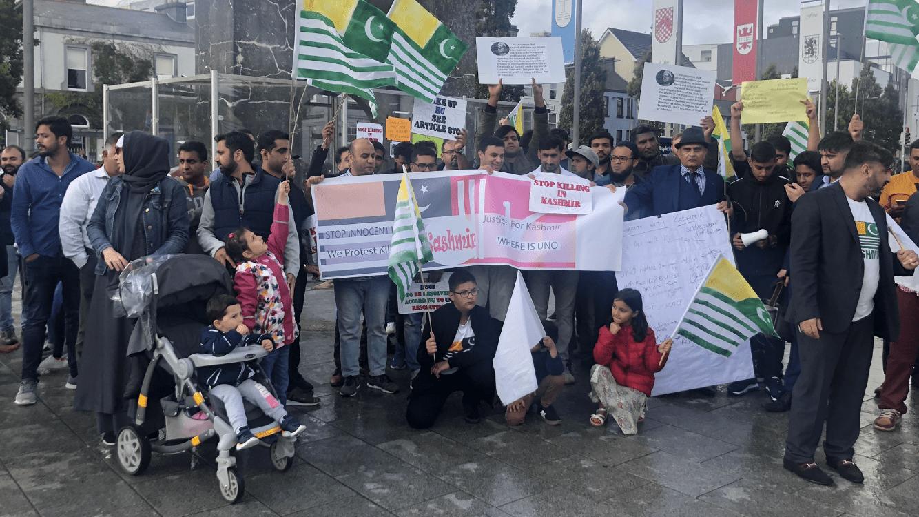 "Protesters chant ""Modi terrorist"" at demonstration against Kashmir crisis"
