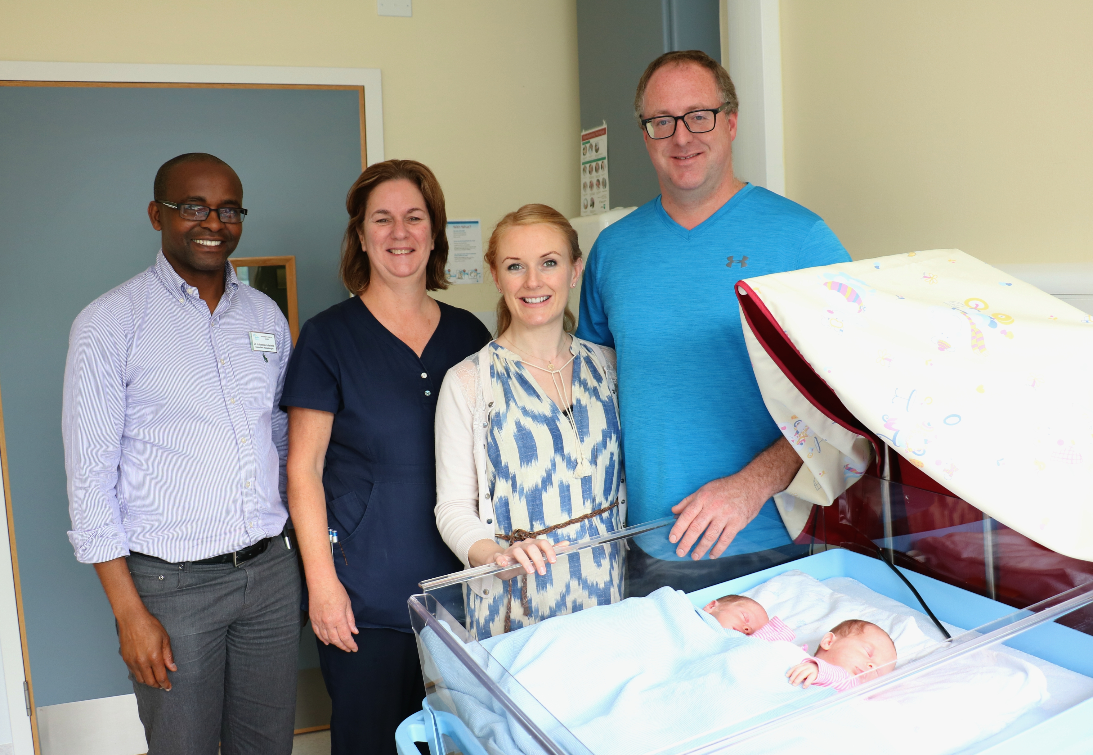 UHG buys new twin cots using funds donated by parents