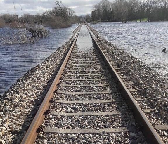 Galway daily news flooding disrupts Galway Limerick train services